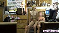 Slender blonde babe railed by pawn dude