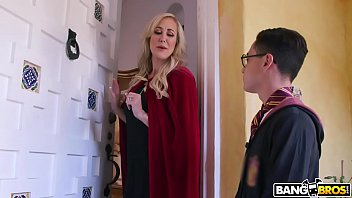 BANGBROS - Halloween Threesome with MILF Brandi Love and Teen Kenzie Reeves