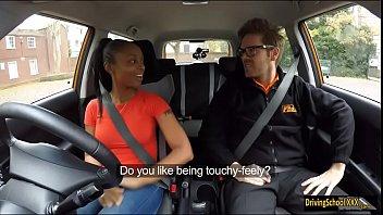 Ebony babe Lola Marie pounded in FDS car