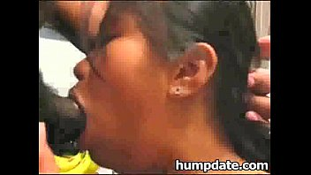 Asian babe gets her throat and ass rammed