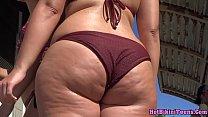 Big ass latina thong spy camera hidden voyeur