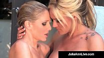 Busty Blonde Milfs Julia Ann & Tyler Faith Wet Hot & Horny!