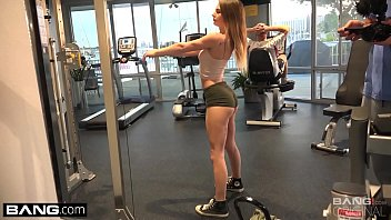 Sydney Cole Workout and tiny titties in the gym