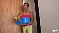 MAMACITAZ - #Camila Marin - Latina Cleaning Lady Oiled Up And Mouth Filled