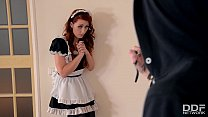 Gorgeous redhead maid Isabella Lui gets Hard Anal by Burglar
