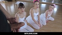 Three Tiny Teen Ballerinas Fucked By Big Cock POV 8 min