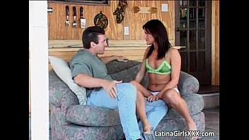 Sweet Latina gets wet mouth and tight