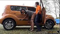 Hot ghetto Sade Rose boned by instructor