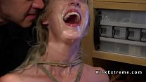 Blonde slave whipped and t.