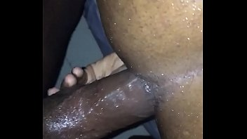 Barebacking some black tranny ass