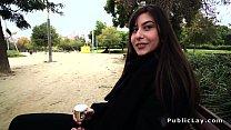 Romanian hottie gets anal in public