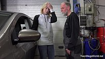 Old-n-Young.com - Daniela C - Blondie gets a special service in the garage