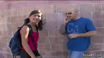 Petite and Flexible Teen in Real Street Casting with Big Dig