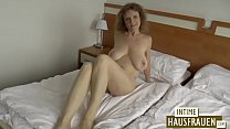 Brunette milf with h. tits