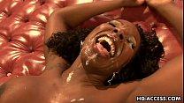 Ebony Kelly Starr Massive Facial!
