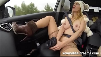 Public Nudity and Sex with Huge Sextoy