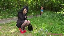 Lesbea Devious British lesbian licks and fucks innocent Asian jogger