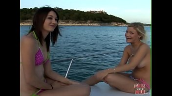 GIRLS GONE WILD - A Couple Of y. Lesbians Having Fun On A Boat