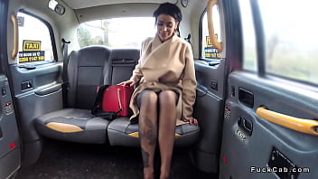 Alt brunette anal fucked in fake taxi
