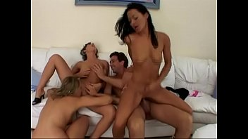 Crazy orgy for a group of young sluts 37 min