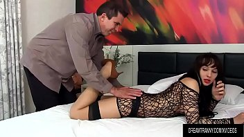 Sensual Shemale Esmeralda Brasil Blows a Guys Cock Then Takes It Up Her Ass