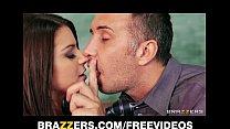Slutty big-tit schoolgirl Brooklyn Chase is seduced by her prof