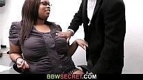 Boss cheats with ebony secretary