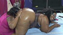 Big ass beauty and her fat friend fucking