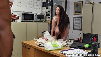 Casting babe gets interracial cuminmouth