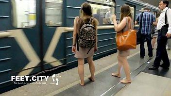 Cams4free.net - Sexy Twins Dirty Feet on Train