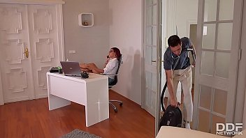 Rose Valerie's Anal Office Cleaning With Kai Taylor's Long Pipe