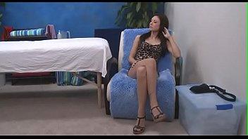 Sweet massage hottie looks nice being impaled on hard cock