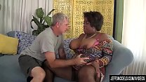 Black BBW Marliese Morgan Has a Thick White Cock Jammed in Her Plump Pussy