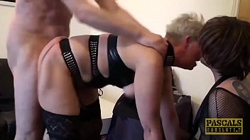 Mature British whore anally drilled hard before swallowing