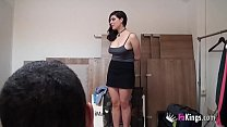 19yo, Spanish, BIG BOOBS and a jealous boyfriend. Lina doesn't know where she got into.