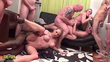 Group of friends fuck with two babes blondies
