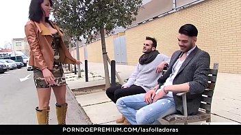 LAS FOLLADORAS - Sexy Spanish MILF Suhaila Hard rides amateur cock in steamy pickup and fuck