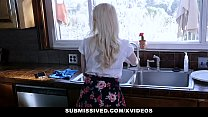 Submissived - Cute Blonde Teen Darcie Belle Gets Filled with Girthy Cock
