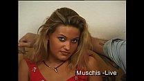 Blonde german next door girl is doing her first casting