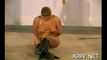 Amateur gets pussy ravished during breast servitude xxx