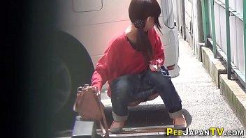 Japanese teen hos pissing