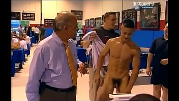 College dude strips naked in public