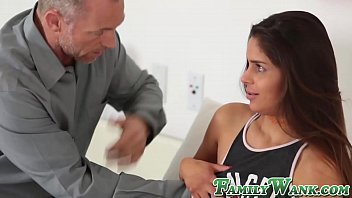 Teenie fucks with daddy and receives big load in mouth 8 min