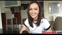 Brunette hot sister plays truth or fuck with brother!