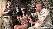 Anal Army Inspectors Jasmine Jae & Abbie Cat Fucked Balls Deep 26 min