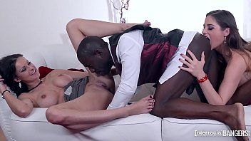 Butler Fucks Curvy Babes Abbie Cat & Cathy Heaven With Enormous Black Cock