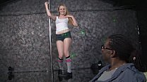 Blonde babe Hydii May gets fucked hard by a black stud with a huge cock