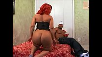 Black bitch Luscious Louis gets her big booty slapped and fucked
