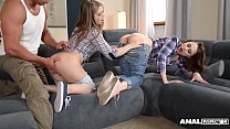 Anal lovers Alessandra Jane & Macy get their assholes fucked by neighbor
