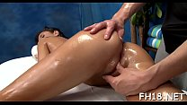This sexy 18 year old hawt girl gets screwed hard from behind by her massage therapist